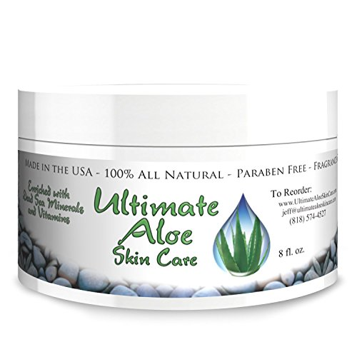 Ultimate Aloe Skin Care Cream * My Answer When Asked How I Got Beautiful Skin * 75% Organic Aloe Handles Dry Skin, Acne, Psoriasis, Ezcema & All Other Skin Conditions * Contains the Major Antioxidants * See Ingredients List *