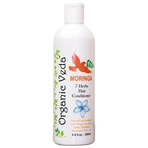 All Natural Organic MORINGA 7 Herbs Hair Conditioner – 200 ml. Plant Based Vitamins and Minerals. Moringa Seed Oil. Aloe Vera. Moringa Leaf. Shea Butter. Castor. Amla. Hibiscus. Henna. Tulsi. Rose Petal. Natural and Chemical Free.