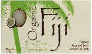 Organic Fiji Coconut Oil Soap, For Face and Body, 100% Certified Organic, Tea Tree Spearmint, 7 Ounce