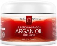 InstaNatural Argan Oil Hair Mask – Best Conditioner Treatment for Soft & Silky Hair – With Organic Argan Oil, Organic Jojoba Oil, Coconut Oil, Vitamin B5 & Green Tea – Provides Deep Moisture – 8 OZ