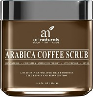 Art Naturals Organic Arabica Coffee Scrub 8.8 oz – The Most Powerful Remedy for Varicose Veins, Cellulite, Stretch Marks, Eczema & Acne – Deep Skin Exfoliator That Promotes Cell Repair & Rejuvenation
