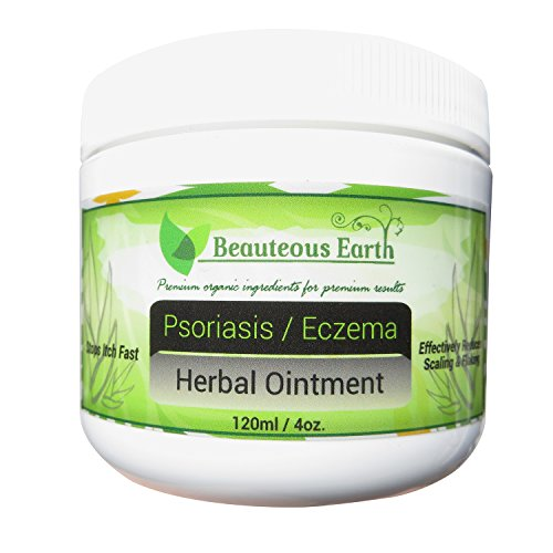 Psoriasis / Eczema Herbal Ointment – 100% All Natural – Certified Organic – Premium Ingredients – Premium Results – Paraben Free – Best Eczema Treatment – Best Psoriasis Treatment