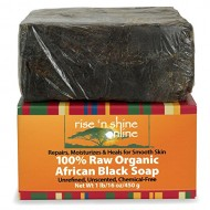16 Oz Raw African Black Soap Bar From Ghana – FREE EBOOK – Body Wash, Shampoo & Face Wash – Authentic Organic Homemade Soap with Coconut Oil & Shea Butter – Helps Clear Skin, Acne, Eczema, Psoriasis