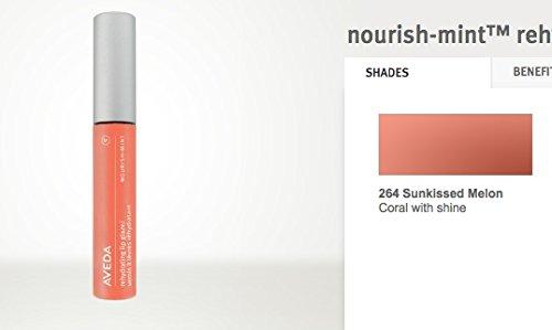 AVEDA Rehydrating Lip Glaze Gloss Coral Peach w/Shine RV$18 #264 SUNKISSED MELON
