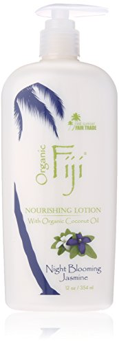 Organic Fiji Nourishing Lotion, Night Blooming Jasmine, 12-Ounce Bottle