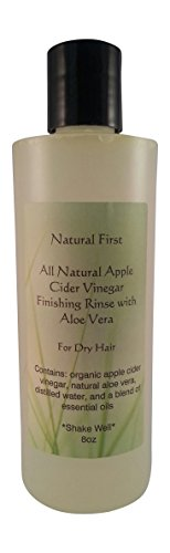 Natural First Organic Apple Cider Vinegar Finishing Rinse w/ Aloe Vera for Dry Hair 8oz