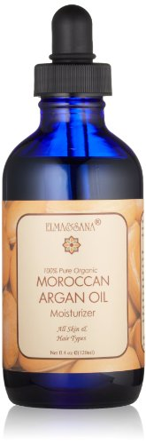 ELMA&SANA® Golden Argan Oil 100% Pure Cold Pressed Virgin Organic Certified By Ecocert -4oz(120ml)