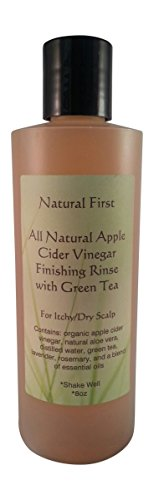 Natural First Organic Apple Cider Vinegar Finishing Rinse w/ Green Tea for Itchy/Dry Scalp 8oz