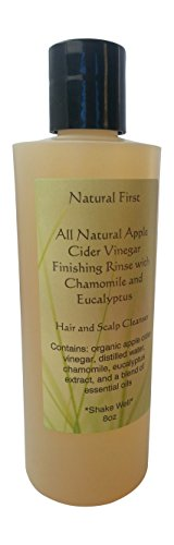 Natural First Organic Apple Cider Vinegar Finishing Rinse w/ Chamomile & Eucalyptus 8oz