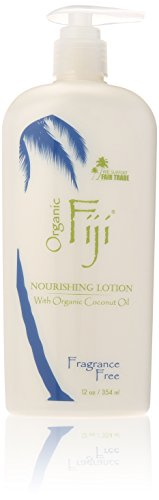 Organic Fiji Nourishing Lotion, Fragrance Free, 12-Ounces