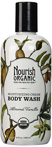 Nourish Organic Body Wash, Almond Vanilla, 10 Fluid Ounce