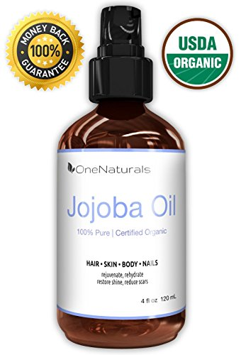Organic Jojoba Oil for Hair, Skin, Body (4oz) – 100% Pure & USDA Organic – LIFETIME Money-Back Guarantee – Unscented, Unrefined, Cold Pressed – Made in USA – Non-Greasy, Non-Irritating to Sensitive Skin – Light-Weight, Fast-Absorbing for Rapid Results – Fresh & Chemical-Free
