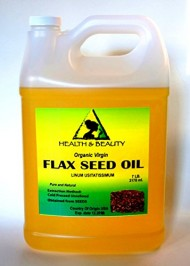 Flax Seed Oil Organic Carrier Virgin Cold Pressed Raw Pure 128 oz, 7 LB, 1 gal