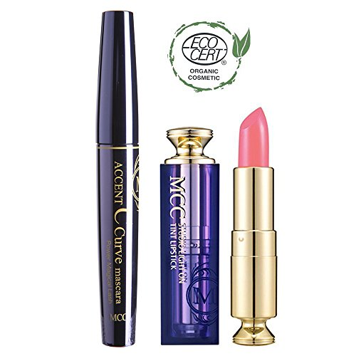 MCC C Curve Voluminzing Mascara + ECOCERT Organic Studio Tint Lipstick Set (102)