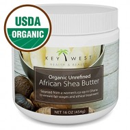 Shea Butter – African Raw Unrefined – USDA Certified Organic – 100% Pure & Natural – 16 OZ – Made By Ghana Women's Co-Op – BPA Free & FDA Compliant Container – Excellent for Hair Skin & Stretch Marks