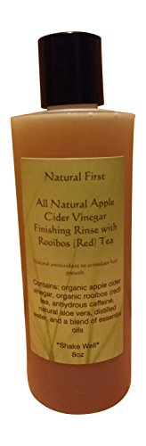 Natural First Organic Apple Cider Vinegar Finishing Rinse w/ Rooibos (Red) Tea to Stimulate Hair Growth