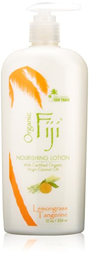 Organic Fiji Nourishing Lotion, Lemongrass Tangerine, 12-Ounces