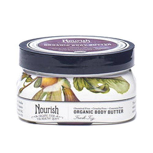 Nourish Organic Body Butter, Fresh Fig, 3.6 Ounce