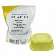 Organic Cocoa Butter Food Grade By Mary Tylor Naturals One LB (16 oz) Non-Deodorized Amazing Chocolate Aroma, Rich In Antioxidants. The Best Cocoa Butter on Amazon. Great For Chocolates, DIY Lip Balms