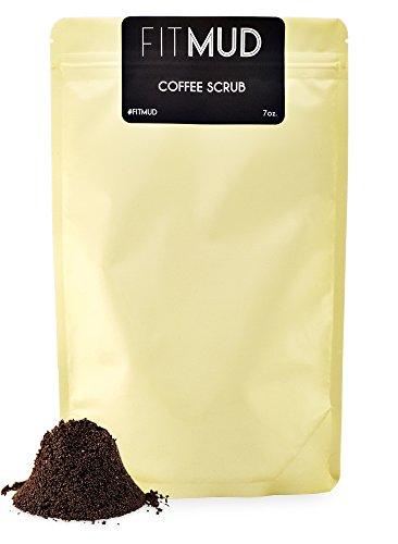 100% Natural Fitmud Coffee Body Scrub 7oz with High Caffeine Content Robusta Coffee, Almond Oil, Jojoba Oil, Vitamin E