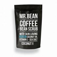 Mr. Bean Organic All Natural Coffee Bean Exfoliating Body Skin Scrub with Coconut Oil, Vitamin E, and Sea Salt- Coconut