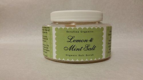 Lemon & Mint Organic Salt Scrub 8oz. in Shea Butter Base
