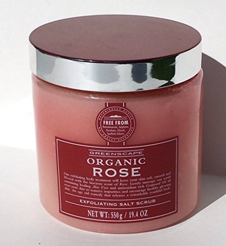 Greenscape Organic Rose Exfoliating Salt Scrub 19.4 oz