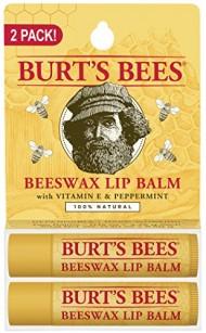 Burt's Bees Lip Balm, Beeswax, 2 Count