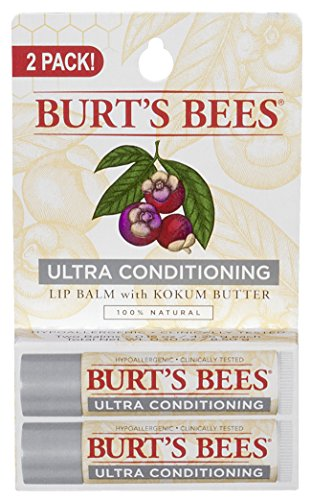 Burt's Bees Lip Balm, Ultra Conditioning With Kokum Butter, 2 Count