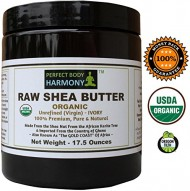 CERTIFIED ORGANIC Raw Shea Butter *Huge 17.5 oz X-LARGE UV AMBER BPA Free JAR! * Best Noncomedogenic Natural Moisturizer *AUTHENTIC Organic* African 100% Premium TOP Quality Unrefined IVORY WHT Color