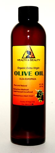 Olive Oil Extra Virgin Organic Carrier Cold Pressed Pure 8 oz