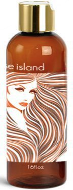 Paradise Island Shampoo 16 oz., Sulfate Free, High Lathering, No Parabens, Phthalates, Dyes, Endocrine Disruptors, SLS Free, Vegan, Natural (Unscented 16 oz)