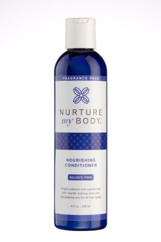 Nurture My Body Organic Conditioner for All Hair Types – 100% All Natural and Organic – Sulfate and Chemical Free (Fragrance Free)