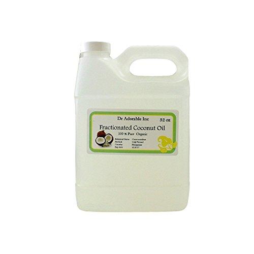 Organic Pure Fractionated Coconut Oil 32 Oz/ 1 Quart