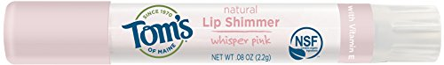 Tom's of Maine Natural Lip Shimmer, Whisper Pink, 0.08 Ounce, 3 Count