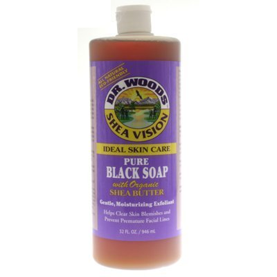 Organic Shea Butter Pure Black Castile Soap 32 Oz ( Pack of 2)