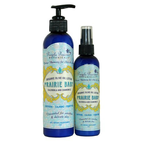 Prairie Baby Organic Olive Oil Lotion 8 oz.