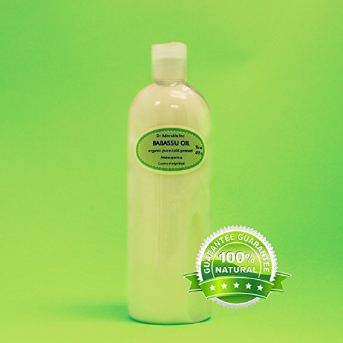 16 Oz Babassu Oil 100% Pure Organic Cold Pressed For Skin Hair Moisturizing