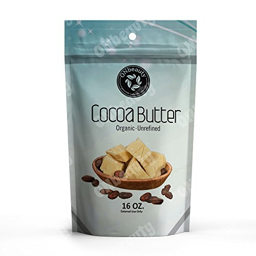 100% Pure Organic Cocoa Butter 16 Oz – Raw Unrefined, Best Food-Grade Quality purpose for Cosmetic. Use for Lotion, Cream, Oil, Lip Balm, Stick or Body Butter. Imported from Organically grown on farm in Peru -FREE Downloadable Recipe eBook-