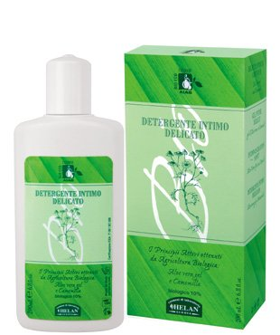 Helan Eco Bio Cosmetici Certified Organic Delicate Intimate Care Wash with Aloe Vera Gel and Chamomile 200 mL 6.8 fl oz