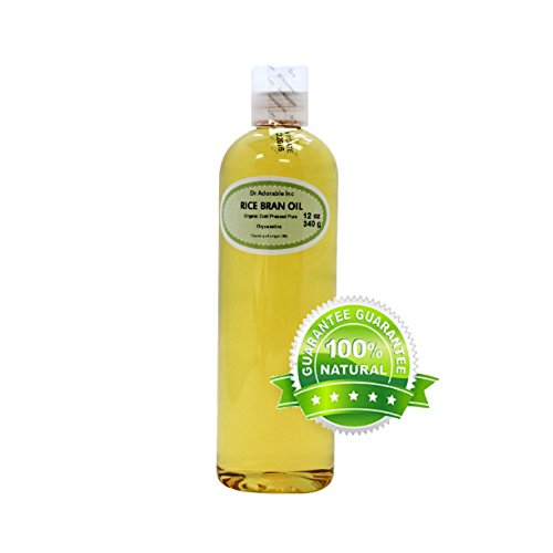 Rice Bran OIL Organic 100% Pure Cold Pressed 12 Oz