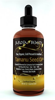 Organic Tamanu Seed Oil, Pure Cold Pressed & Unrefined For Skin, Nails, Face, Hair and Scars by Jarosa Beauty 30 ml (1 oz) Foraha Nut Seed Oil, Certified Organic by ECO Cert ICO