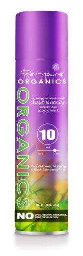 Renpure Organics My Sassy Hair Needs Shape! Shape and Design Aerosol Hairspray, 10-Ounce
