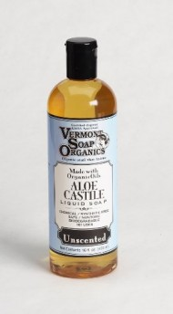 Vermont Soap Organics – Unscented Liquid Aloe Castile Soap 16oz