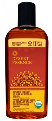 Desert Essence Coconut Jojoba and Coffee Oil – Organic – 4 oz