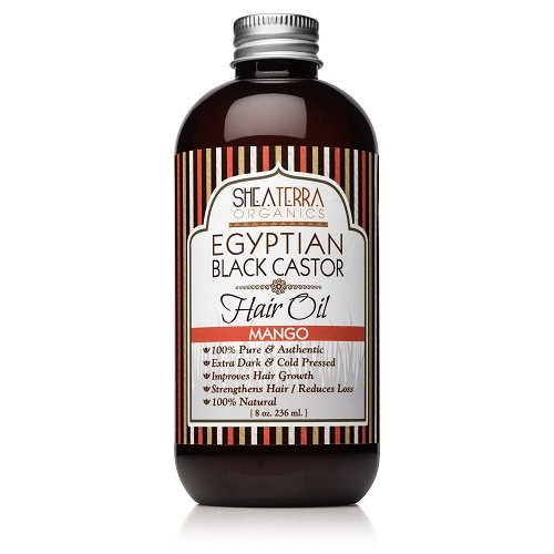 Shea Terra Organics Egyptian Black Castor Cold Pressed Oil, Mango