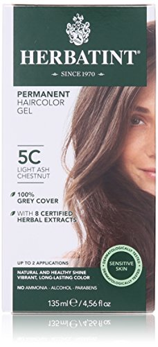 Herbatint Permanent Herbal Haircolor Gel, Light Ash Chestnut, 4.5 Ounce