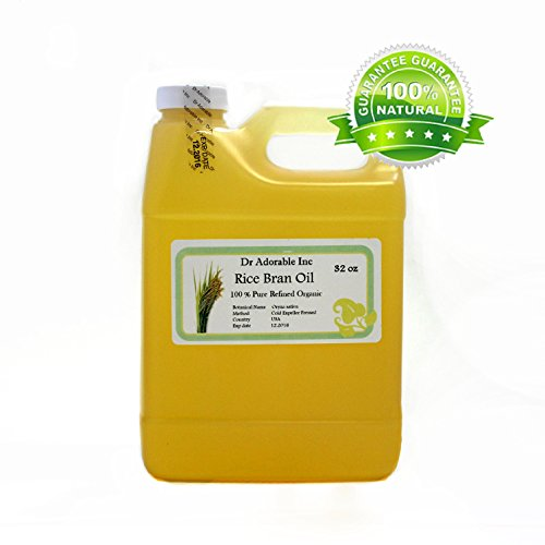 Rice Bran OIL Organic 100% Pure Cold Pressed 32 Oz / 1 Quart
