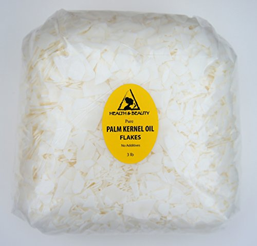 Palm Kernel Oil Flakes Organic Pure Natural for Soaps Cosmetics 48 oz, 3 LB