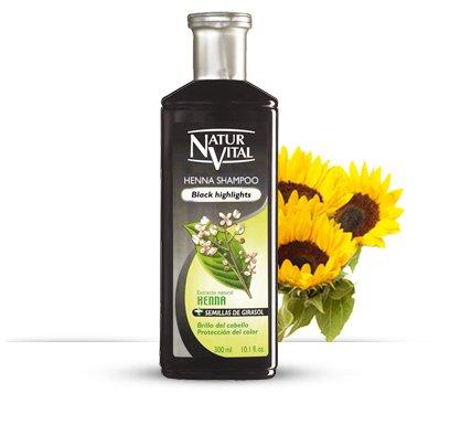 Hair Shampoo Henna Black – Colour and Shine – 300 Ml / Natural & Organic